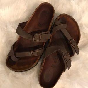 Birkenstock's sandals. Brown. Size 36